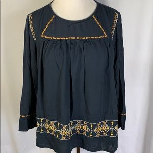 Earthbound Embroidered Boho Top
